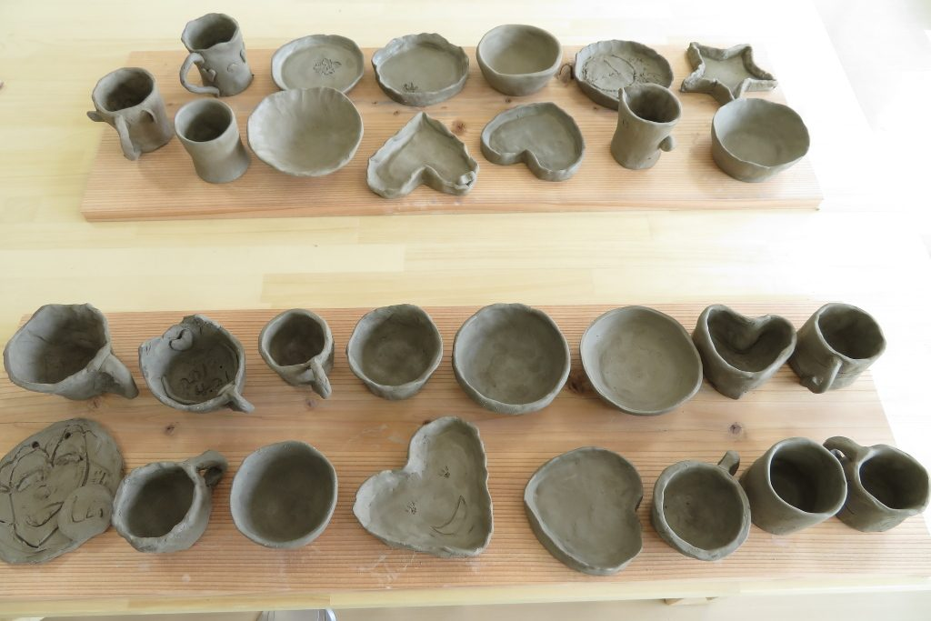 陶芸体験参加者の作品