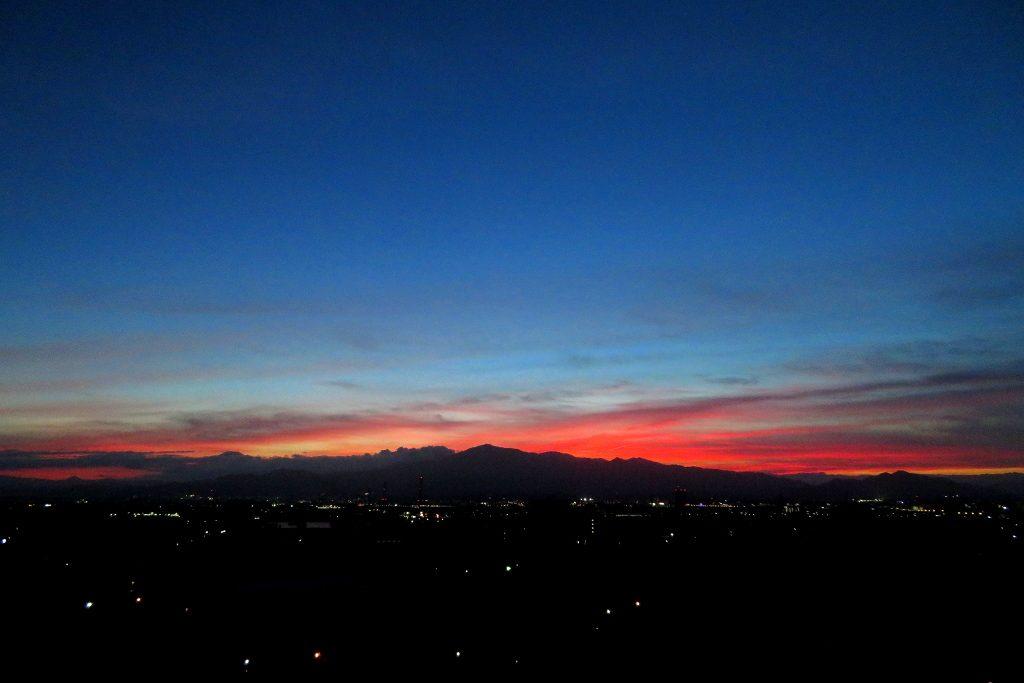 10階展望室からの夕景写真