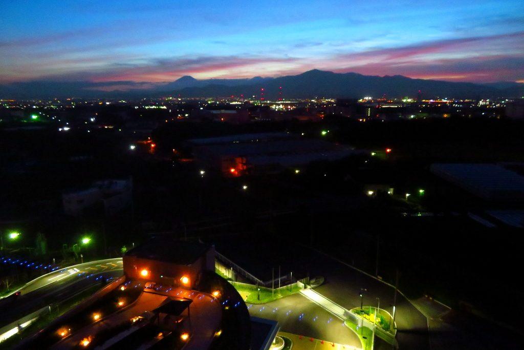 10階展望室からの夜景写真