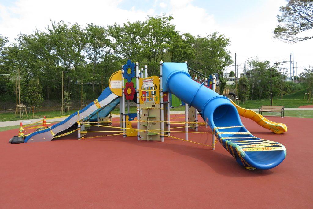 20200501本郷ふれあい公園大型遊具使用休止
