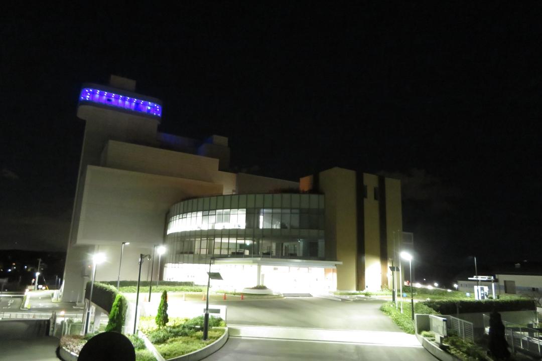 展望室ブルーライトアップ写真(イメージ)1枚目