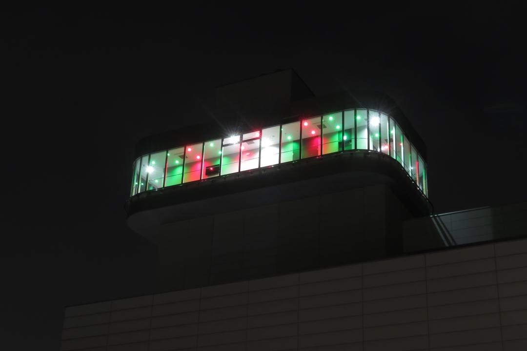 展望室ライトアップクリスマスバージョンの写真
