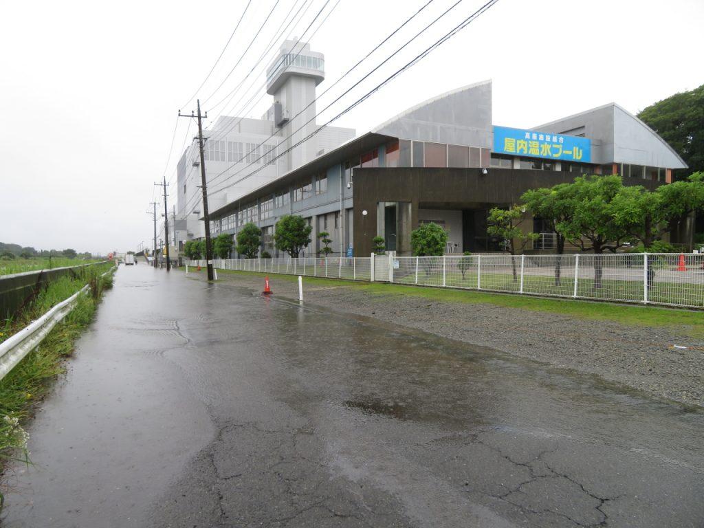 高座温水プール前冠水状況写真